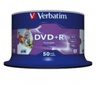 Verbatim DVD+R 4.7GB 16X printable spindle (50)