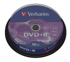 VERBATIM DVD+R 4,7GB SPINDLE (10)