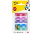 Teippimerkki Post-It Index 684-PLD5 ruudut 5x20