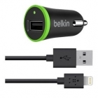 BELKIN AUTOLATURI Lightning Car Charger 2.4A with Cable Black